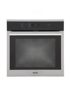 Miele H6160BP Built-In Electric Single Oven - Clean Steel