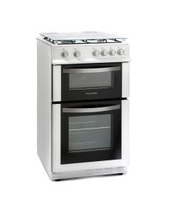 Montpellier MDG500LW 50cm Gas Double Oven White