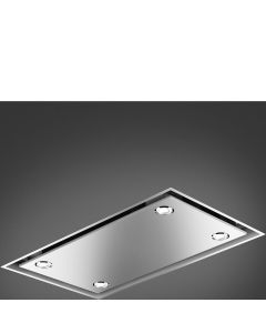 Smeg KSCB90XE 90cm Stainless Steel Ceiling Hood including remote control