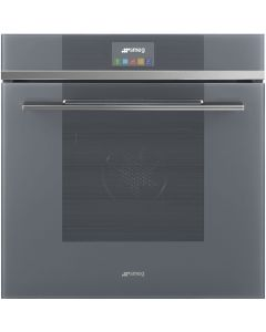 Smeg SFP6104TVS 60cm Linea Silver Pyrolytic Multifunction Single Oven with Touch Controls A+ with Soft Close