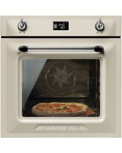 Smeg SFP6925PPZE1 60cm Victoria Cream Multifunction Pyrolytic Single Oven A+ with Soft Close Door