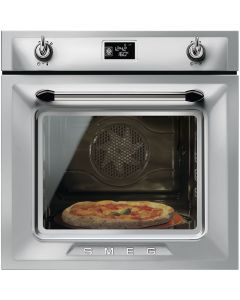 Smeg SFP6925XPZE1 60cm Victoria Stainless Steel Multifunction Pyrolytic Single Oven A+ with Soft Close Door